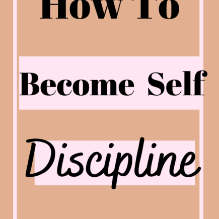 how to become self discipline