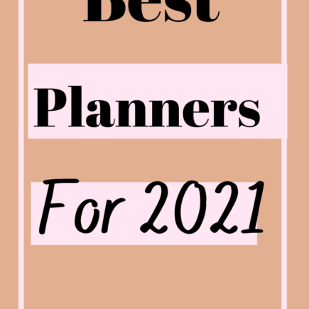 Best Planners For 2021