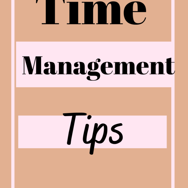 Time Management Tips To Manage Time Effectively