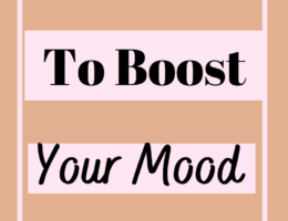 Daily habits to boost your Mood